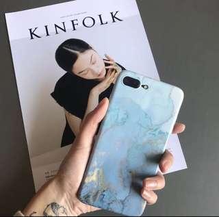 🚚 全新 Iphone 8 藍大理石手機殼
