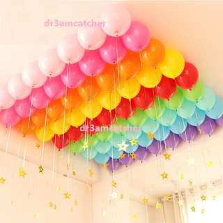 Rainbow theme latex balloon set