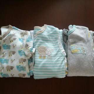 Brand New Mothercare Sleepsuit Romper Set Of 3 In Packing