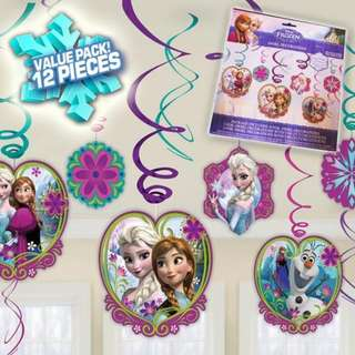 Frozen swirl birthday decoration