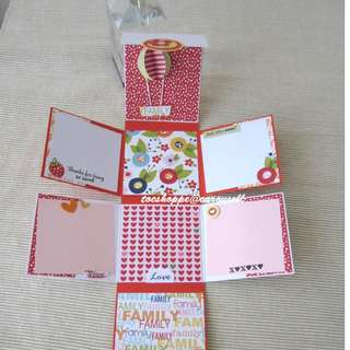 So Sweet Wallet Scrapbook Card