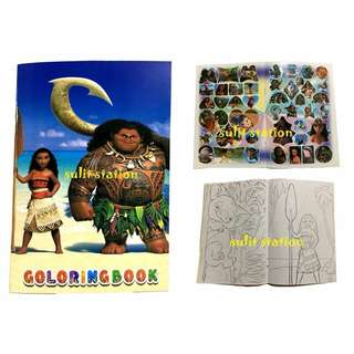 MOANA PARTY STICKER COLORING BOOK GIVEAWAYS SOUVENIR
