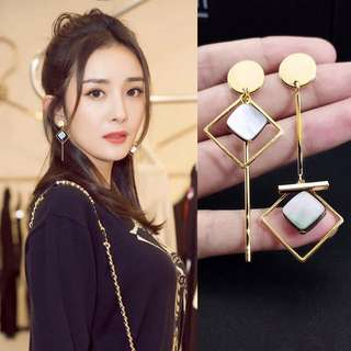 Korean shell details earrings