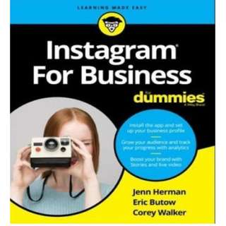 Instagram For Business For Dummies 2018 PDF Read on PC/SmartPhone/Tablet