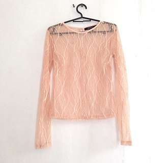 Forever 21  See Through Laced Top