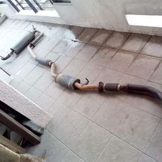 Hotbits exhaust system for lancer gt / inspira