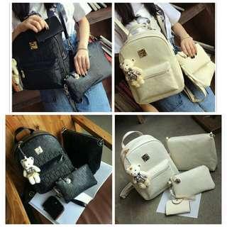 5in1 Women Backpack Set + Free Gift