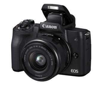 Latest Canon EOS M50 Mirrorless Digital Camera with 15-45mm Lens