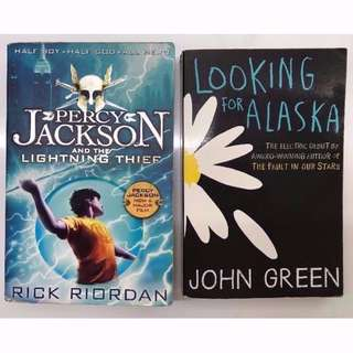 Looking For Alaska by John Green / Percy Jackson And The Lightning Thief