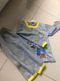 Unisex robocar poli pyjamas 2-3y