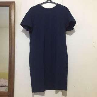 Uniqlo Plain Bodycon Dress with Pockets