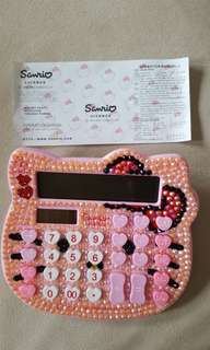 Hello Kitty Embellished Pink Bling Calculator