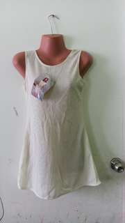 Off white mini dress stretchy