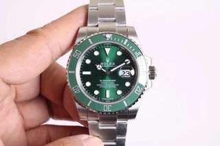 Rolex Submariner Green Ceramic Bezel N Factory V7 Swiss Engine 2836 ETA