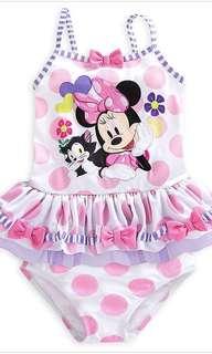 BN Authentic Disney Minnie Mouse Girl's 2 Piece Swimwear