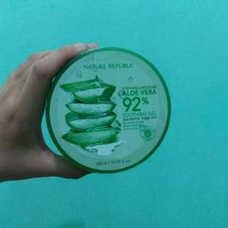 Ready stock nature republic aloe vera soothing gel