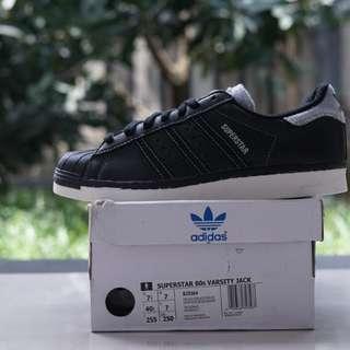 Sepatu Adidas Superstar 80s Black White Original BNIB Murah