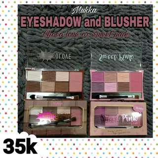 Eyeshadow dan blusher