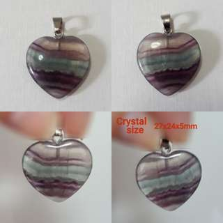 🎆Special Offer🎆 Very nice Natural Flourite pendant, heart shape, beautifull layer of colours.