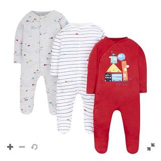 Mothercare Motoring Sleepsuits