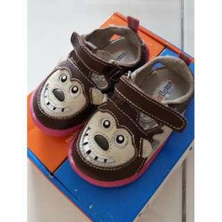 Zooligan Kids leather shoes  - Bobo the monkey