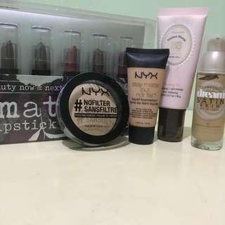Nyx, maybelline, etude make up bundle