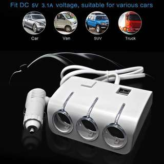 Universal Car Cigarette Lighter Sockets With USB Ports