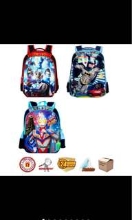 School bag backpack design 1 ultraman/ batman