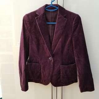 【10元清衣櫃】Uniqlo 女款紫色西裝外套 size S