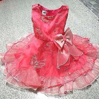 Preloved Pink Birthday Tutu Dress