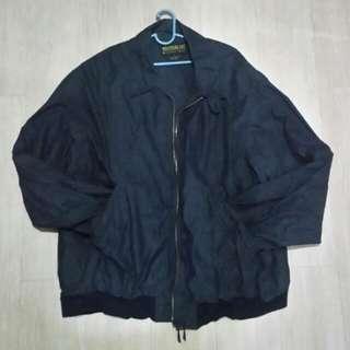 Vintage Black Weathercast Windbreaker type Bomber Jacket