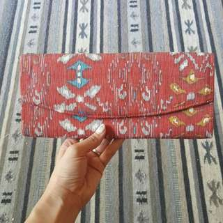 Pinky red clutch bag