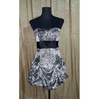 Satin Bubble Mini Gown