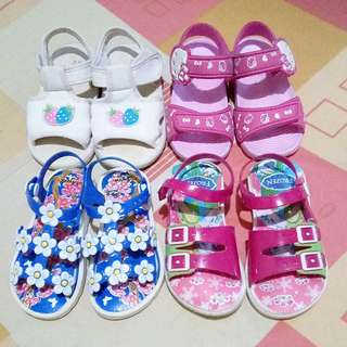 Repriced assorted baby sandals bundle!