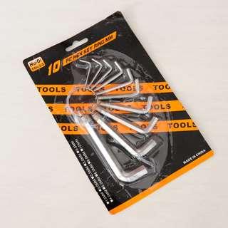 Kunci L Set isi 10 ( obeng socket sock baut kursi ranjang