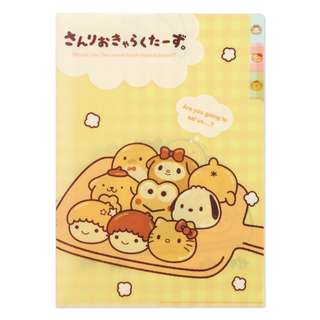 Japan Sanrio Sanrio Characters Index with Clear File Bread