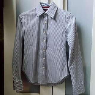 🚚 黑白條紋質感薄襯衫