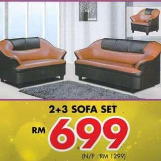 SOFA SET 2+3 PROMO PRICE