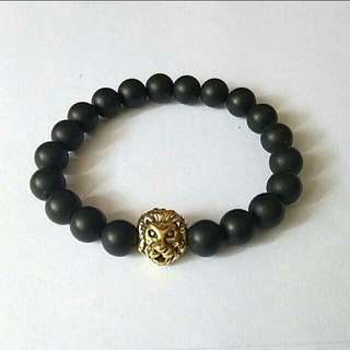 Offer Bracelet $10 Gold Lion Black Onyx Bracelet For Men And Women, Bracelets For Couples