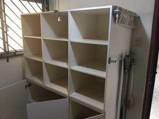 White storage unit. FOC