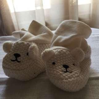 Sarung kaki bayi bentuk beruang HnM