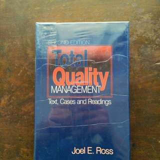 Total Quality Management Book (Text, Cases and Readings)