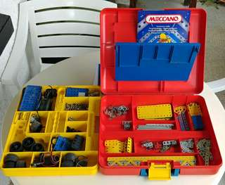 Erector / Meccano Set With Red Case