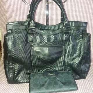 Bundle set Original Naturalizer bag and coach long wallet