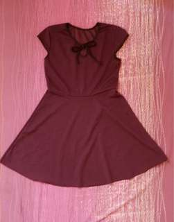 Dark Violet Short Dress - Small