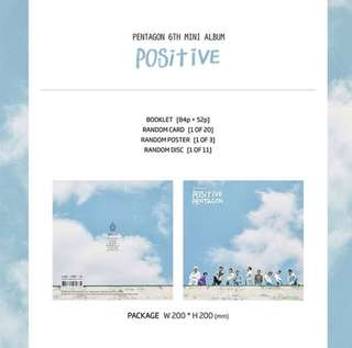 [Preorder] PENTAGON 6th MINI ALBUM-POSITIVE
