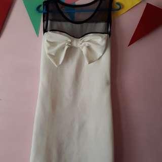 Straight cut white dress