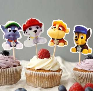 🐾 Paw Patrol party supplies - dessert toppers / cake toppers / DIY Cake toppers / candy bar deco