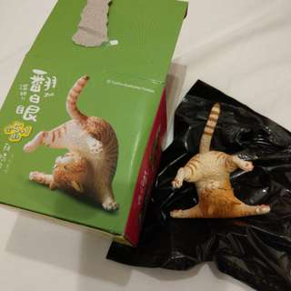 研達 朝隈俊男 台灣7-11 滾吧!翻白眼 animal life 虎紋貓 cat figure