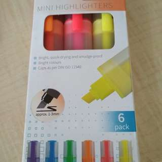 6 mini highlighters